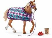 schleich hest 42360 - engelsk fuldblod med dækken - Figurer