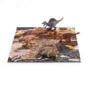 schleich puzzle / puslespil - dinosaur med lava - Brætspil