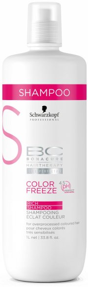 schwarzkopf color freeze rich shampoo - 1000 ml - Hårpleje