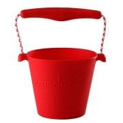 scrunch bucket / strand spand - rød - Udendørs Leg