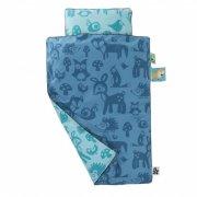 sebra sengetøj / juniorsengetøj - forest - blå - Babyudstyr