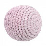 sebra hæklet bold til baby - 12 cm - lyserød - Diverse
