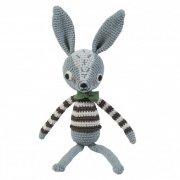 sebra - hæklet kanin / bamse - 38 cm - robert - Babylegetøj