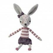 sebra - hæklet kanin / bamse - 38 cm - roberta - Bamser