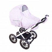 sebra regnslag til barnevogn med fluenet - farm - rosa - Babyudstyr