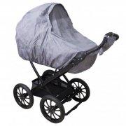 sebra regnslag til barnevogn med fluenet - in the sky - grå - Babyudstyr
