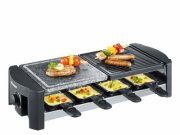 severin bordgrill - raclette rg 2683/rg 9645 1400 watt i sort - Husholdningsapparater