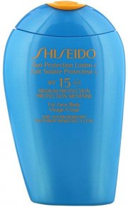 shiseido solcreme - sun lotion face and body spf15 - 150 ml - Hudpleje