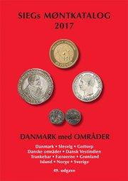 siegs møntkatalog danmark med områder. 2017 - bog