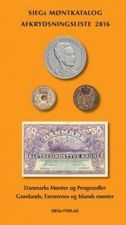 siegs møntkatalog og afkrydsningsliste 2016 - med pengesedler - bog