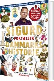 sigurd fortæller danmarkshistorie - guldudgave med 2 cd'er - bog