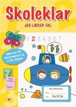 skoleklar: jeg lærer tal - bog