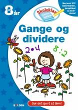 skoleklar lektiehjælper: gange og dividere - bog