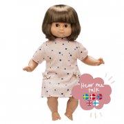 skrållan dukke med tale - lillian mørk hår 36 cm - Dukker