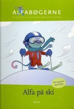 skrivevejen, alfabøgerne, alfa på ski - bog