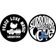 slipmat til pladespiller - peace love music - Merchandise