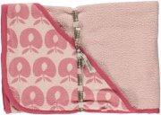 småfolk babyhåndklæde - lyserød - Babyudstyr
