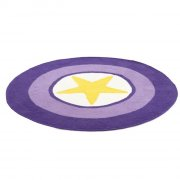 smallstuff hæklet rundt tæppe til børneværelse - gul/lilla - Til Boligen