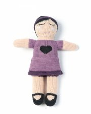 smallstuff strikket dukke - 30 cm - sarah - Dukker