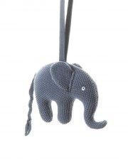 smallstuff musikuro til baby - blå elefant - Babylegetøj