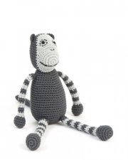 hæklet abe bamse - smallstuff - grå - Bamser