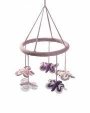 mobile - smallstuff - hæklet uro - sommerfugle - Babyudstyr