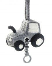 smallstuff hæklet uro med musik - traktor - Babyudstyr