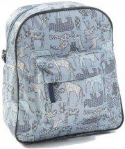 skoletaske / rygsæk - smallstuff - lille - blå/dyr - Babyudstyr