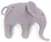 smallstuff elefant bamse i strik - blårosa - Babylegetøj