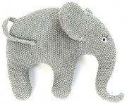 smallstuff elefant bamse i strik - grå - Babylegetøj