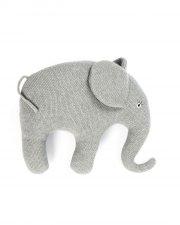 smallstuff pude med elefantmotiv - grå - Babylegetøj