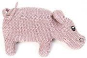 smallstuff flodhest i strik - lyserød - Babylegetøj