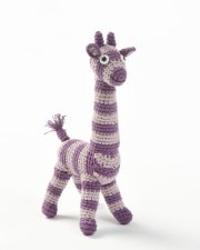 smallstuff hæklet bamse / hæklet giraf - lilla - Bamser
