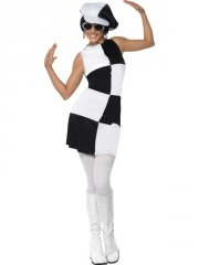 smiffys - 1960s party girl costume - small (21142s) - Udklædning Til Voksne