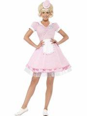 smiffys - 50's diner girl costume - large (43183l) - Udklædning Til Voksne