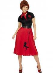 smiffys - 50s style poodle costume - large (30814l) - Udklædning Til Voksne