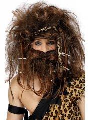 smiffys - crazy caveman set,brown (42079) - Udklædning Til Voksne