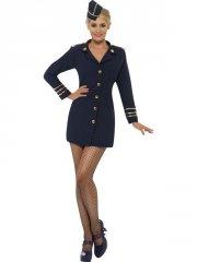 smiffys - flight attendant costume - small (28879s) - Udklædning Til Voksne