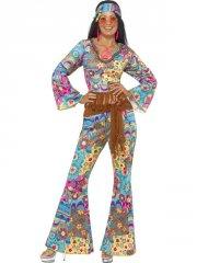 smiffys - hippy flower power costume - medium (39493m) - Udklædning Til Voksne