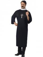 smiffys - priest costume - large (20422l) - Udklædning Til Voksne