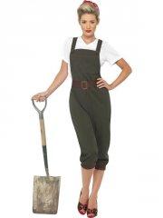 smiffys - ww2 land girl costume - large (39491l) - Udklædning Til Voksne