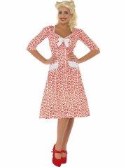 smiffys - ww2 sweet heart costume - small (39384s) - Udklædning Til Voksne