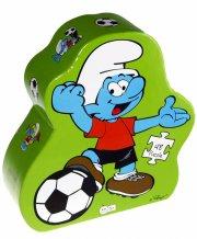 smølfe puslespil - smølf med fodbold - Brætspil