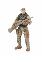 soldier force legetøj - ørkensoldat med sniper - Figurer