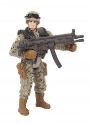 soldier force legetøj - ørkensoldat med maskinpistol - Figurer