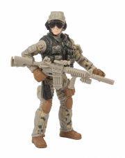 soldier force soldaterlegetøj - ørkensoldat med assaultriffel - Figurer