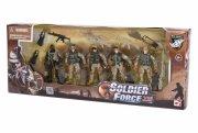 soldier force legetøj - ørkensoldater med våben - Figurer