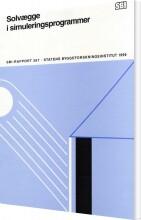 solvægge i simuleringsprogrammer - bog