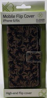 iphone 6/6s flip cover - mønster - clover - Mobil Og Tilbehør