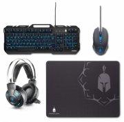 spartan gear hydra gaming pakke med tastatur, mus, høretelefoner og musemåtte til pc - Gaming